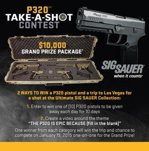 Sig Sauer Take a Shot Contest