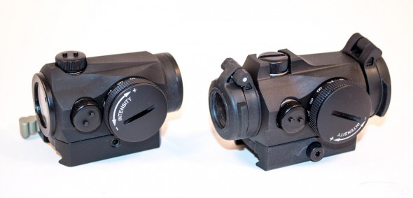 The Aimpoint Micro T-2 (right) improves on the already solid Micro H-1 and T-1 designs.