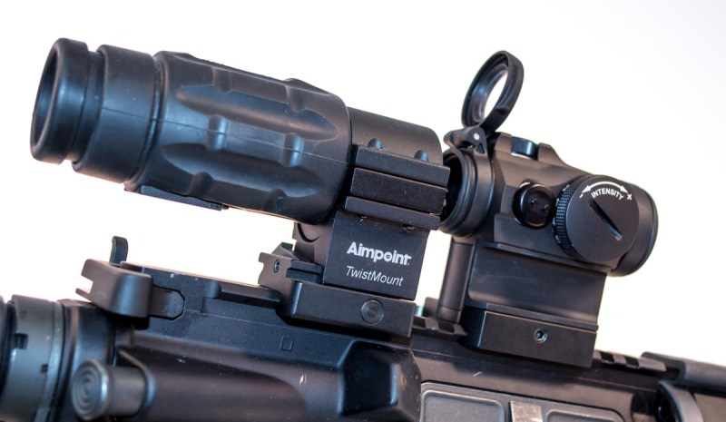We're talking short range optics, but you can always add a magnifier.