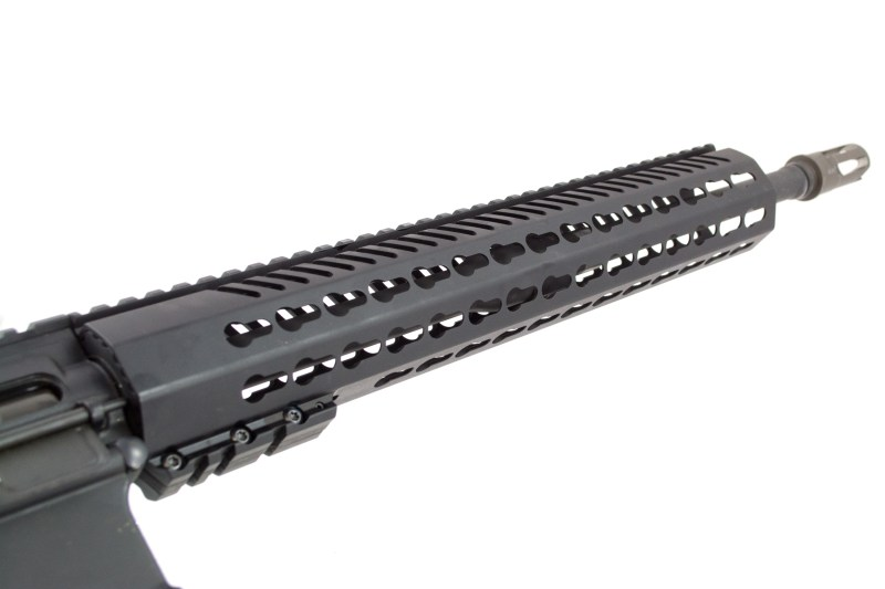We'll use this Mission First Tactical hand guard as an example.