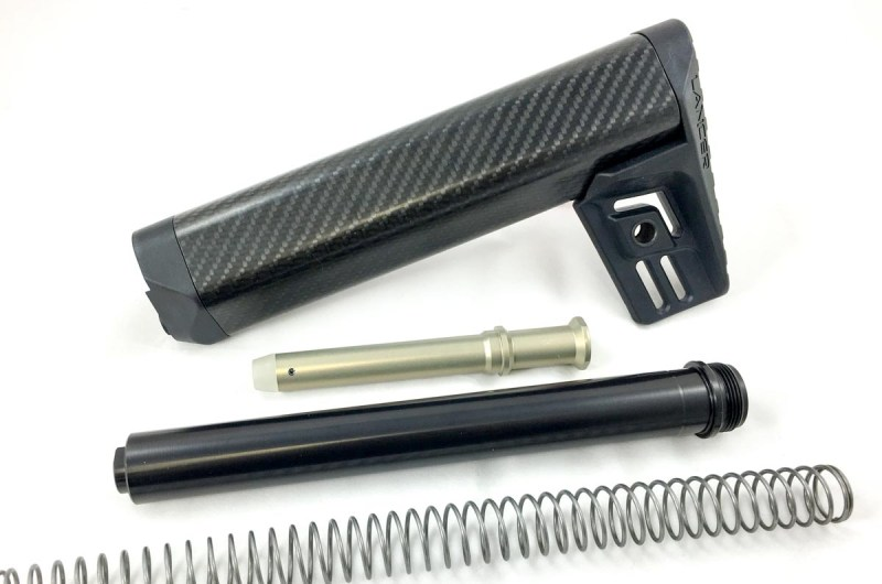 Once you understand the different types of stocks, tubes, and buffers for AR-15s, upgrading to something like this Lancer Carbon Fiber Stock is a piece of cake.