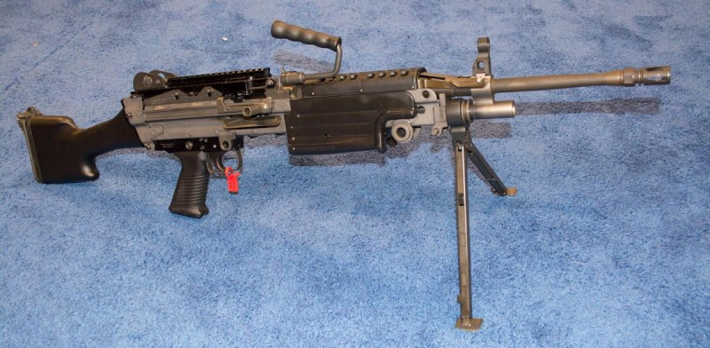 I'm pretty sure this FN M249S is in the running for the 2016 most interesting guns list...