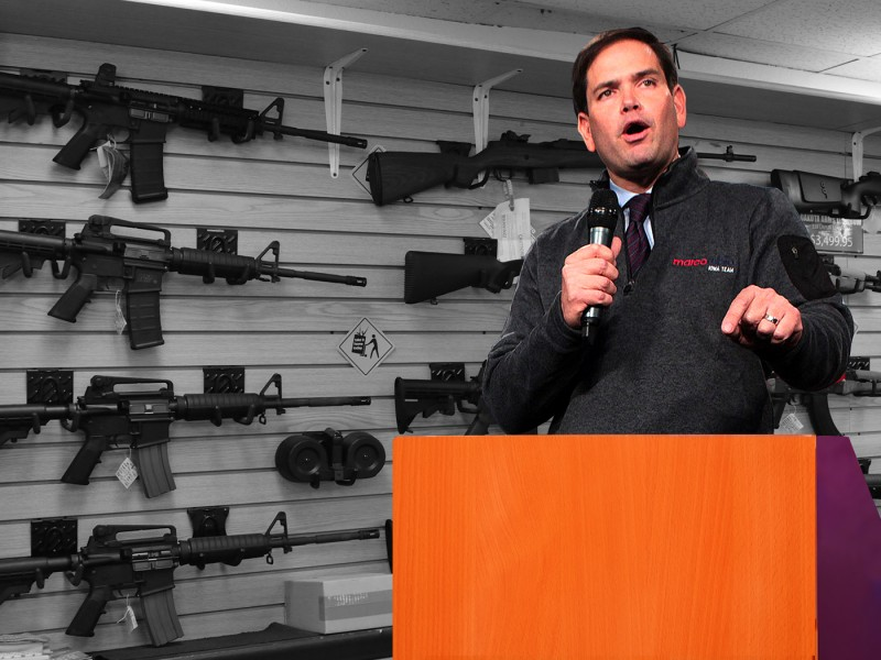 Marco Rubio pro-gun?