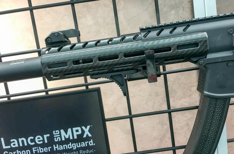 Lancer's new carbon fiber hand guard for the Sig Sauer MPX.