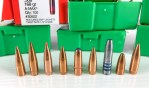 All of these are .308 bullets, but as you can see, materials, shape, and weight vary dramatically.