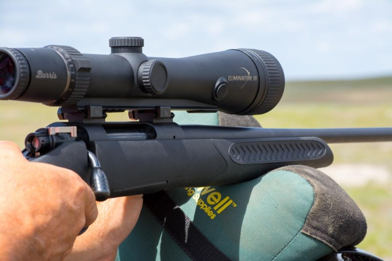 A laser-enabled scope like this Burris Eliminator allows you to place a perfect long-range shot without taking your eye off target.