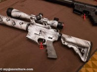 SHOT Show always has at least eleventy-billion AR rifles on display, like this new LAR-15 from Rock River Arms.