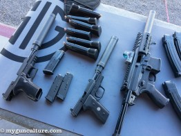 We got to try a pile of new Sig Sauer suppressors at the Sig Media Range Day event.