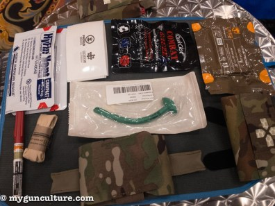 Al of this emergency med gear fits into the belt or MOLLE mount pack at the bottom offered by Blue Force Gear. You can order the pack empty of pre-stocked. Great to have at the range or in the car.