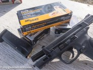 We tested the M&P 2.0 pistols with a variety of Sig Sauer FMJ and V-Crown ammunition.