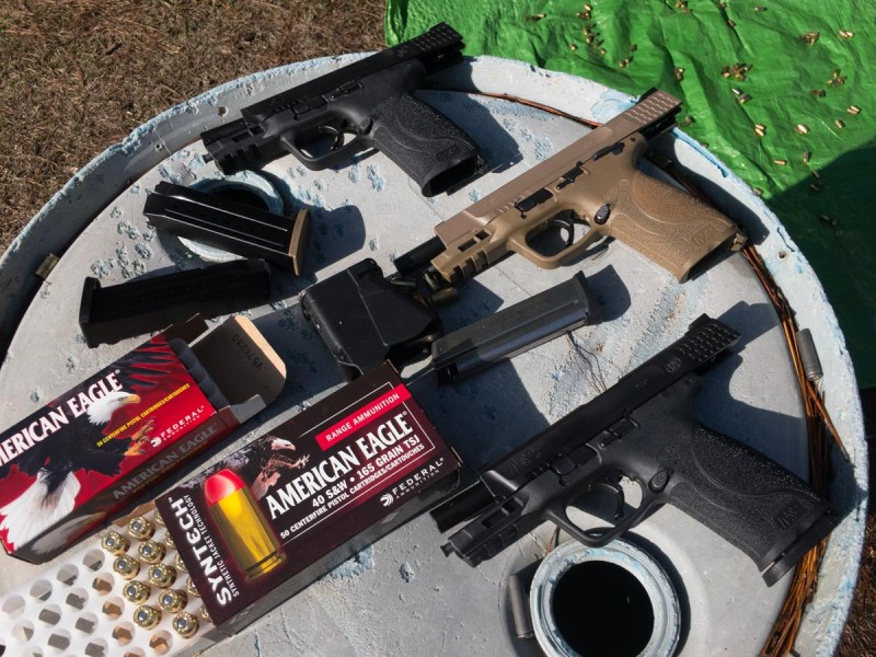 I shot all three of Smith & Wesson's new M&P M2.0 Pistols in the same outings, so it was easy to compare guns and ammunition performance.
