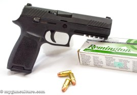 A Sig Sauer P320 full size model chambered in .357 Sig.