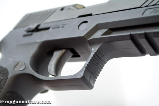 This Sig Sauer P320 has a six-pound trigger pull weight.