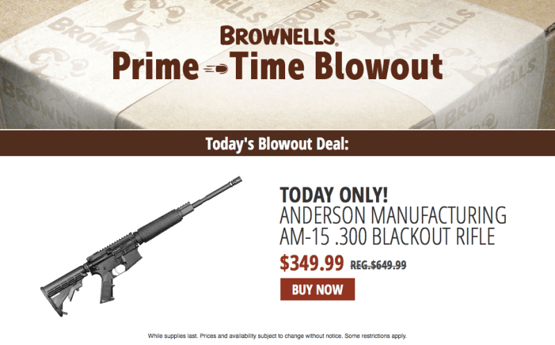 Brownells sale page