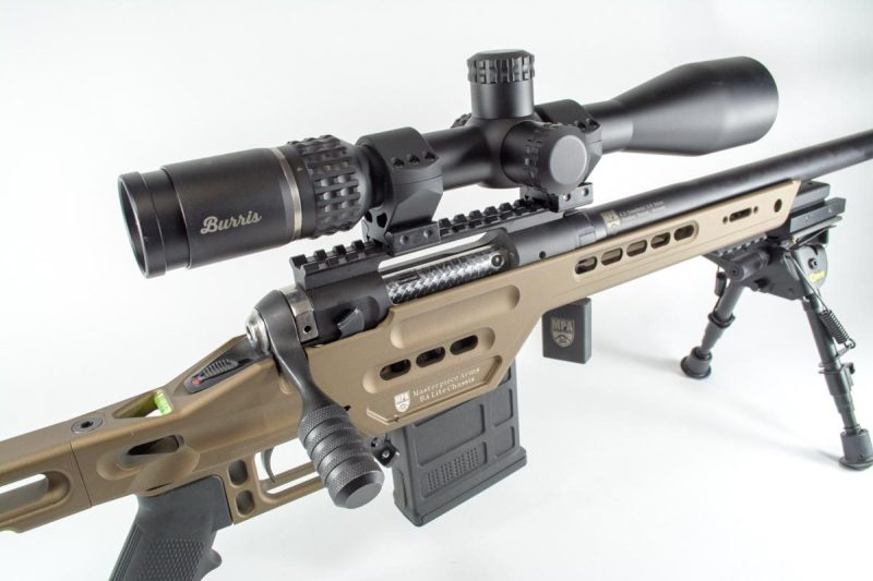 The Burris Veracity Scope on this Masterpiece Arms rifle uses minute of angle turrets marks. How does that help simplify accounting for bullet drop?