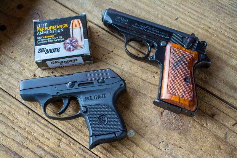 While certainly heavier, it's not a lot bigger than a subcompact like the Ruger LCP. However, it is a heck of a lot easier to shoot well.