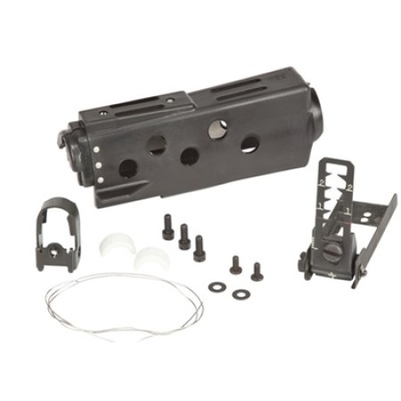 Here's the carbine-length mounting kit. Note the replacement handguard and leaf sight.