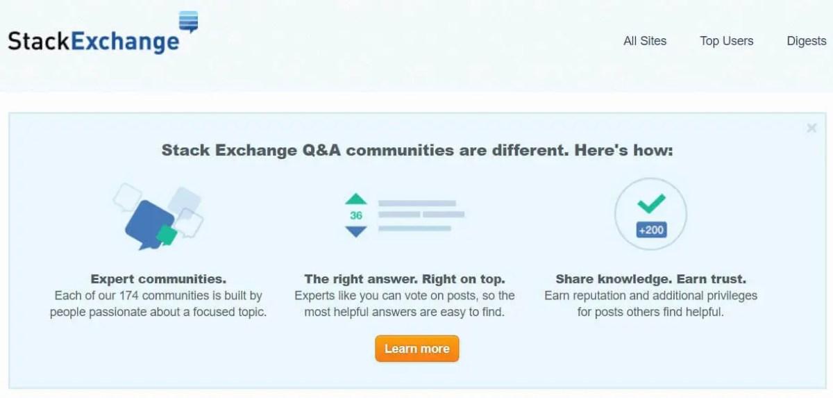 stack exchange - quora alternative