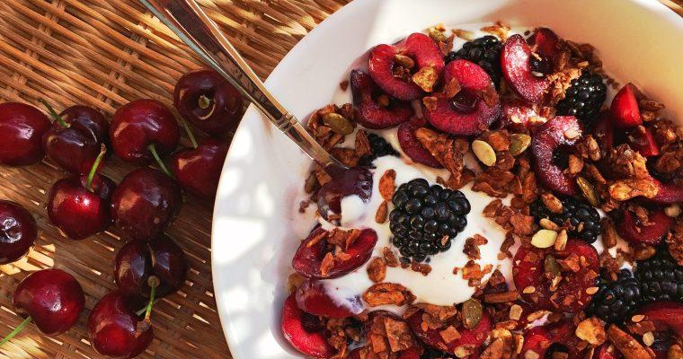 Greek Yogurt with Berries and Paleo Granola