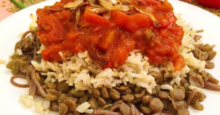 Healthy Gluten-Free Koshari Recipe – Egyptian National Dish