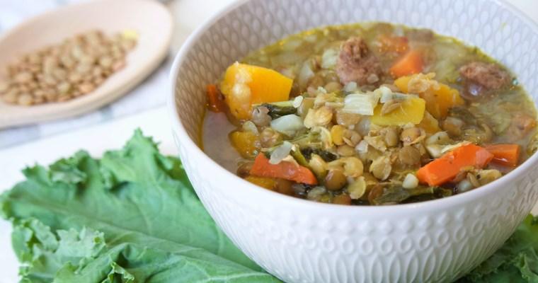 Lentil Soup with Butternut Squash