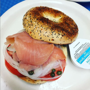Bagel and Lox at Arthur's Bkery