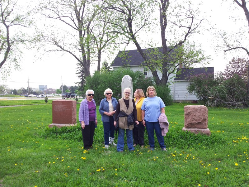 May 2013 Tour of St. John's Cemetery in Palatine, IL with Audrey I, Pat W, Diane K, Betty H, Jeanne P.