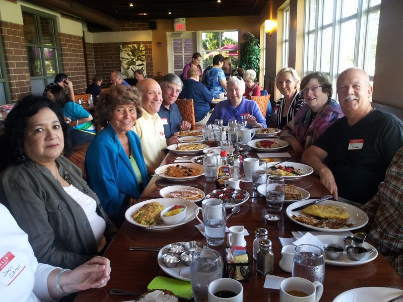 June 2013 Breakfast at Wildberry in Schaumburg with Eloyse A, Bonnie H, Bruce B, Dom M, Sharon M, Marcia L, Mercedes M, Bill S