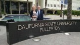 Tom and his wife Barbara at Cal State - Fullerton in California, where Tom will serve as interim director of DSS.