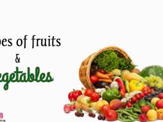 Types of Fruits and vegetables