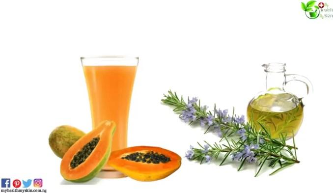 Papaya and rosemary