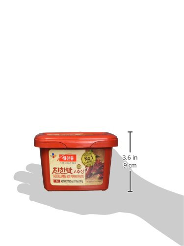 CJ Haechandle Gochujang, Hot Pepper Paste, 500g (Korean Spicy Red Chile Paste, 1.1 lb.)