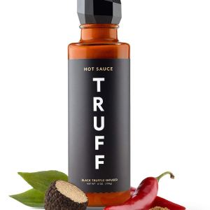 TRUFF Hot Sauce, Gourmet Hot Sauce with Ripe Chili Peppers, Black Truffle Oil, Organic Agave Nectar, Unique Flavor Experience in a Bottle, 6 oz.