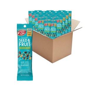 Enjoy Life Seed & Fruit Mix, Peanut Free Trail Mix, Soy Free, Nut Free, Gluten Free, Dairy Free, Non GMO, Vegan Snack Mix, Mountain Mambo, 24 - 1.63 oz Pouches