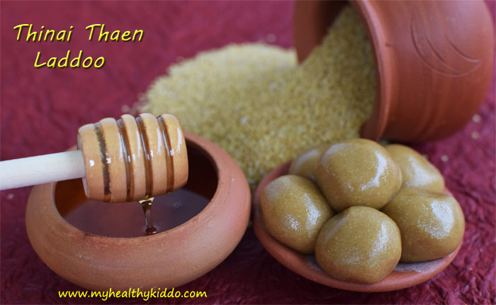 How to make Thinai Thean Laddu Step-4