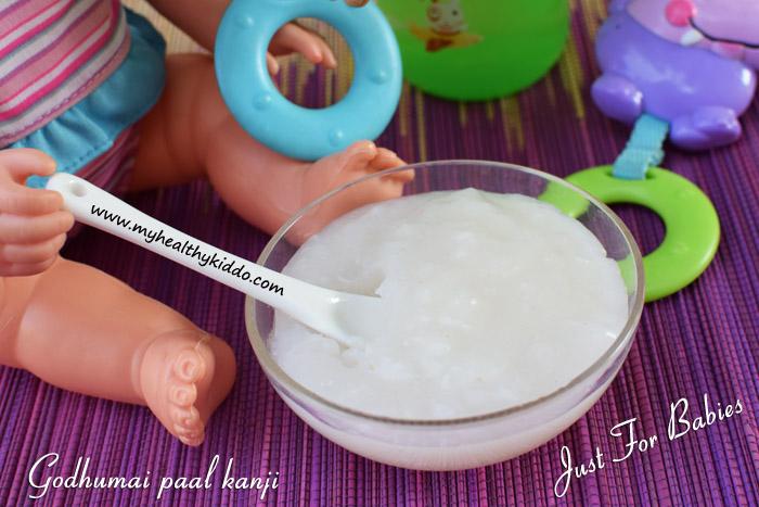 Godhumai kanji for babies recipe-2