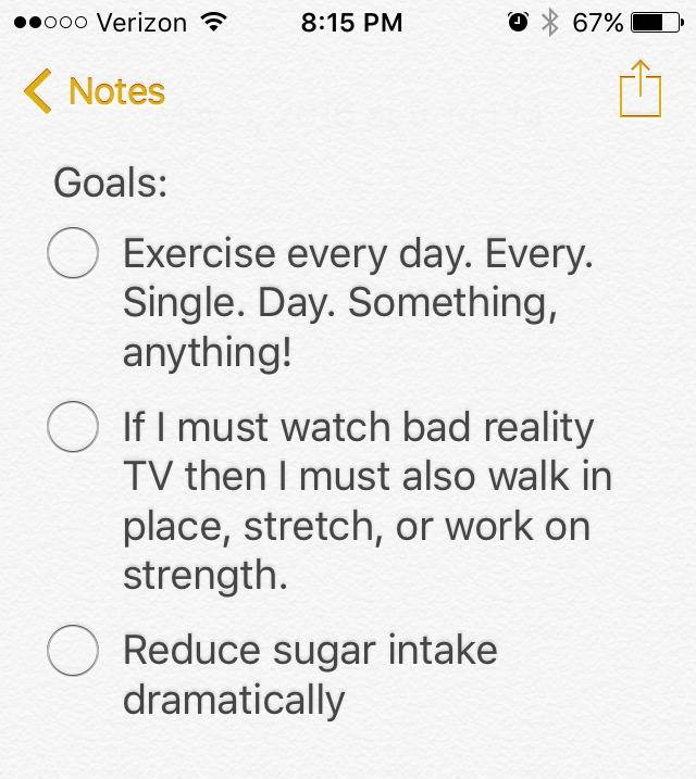 Day 5: Setting goals for a healthier you
