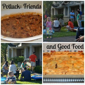 Potluck Friends and Good Food