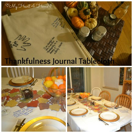 Thankfulness Journal Tablecloth