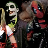Joker & Harley Quinn vs Deadpool & Domino!!