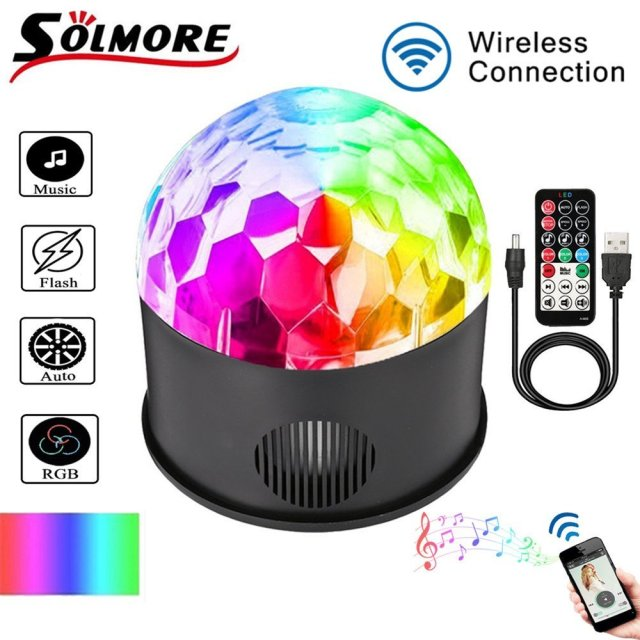 SOLMORE 9 Colour Music Ball Lamp