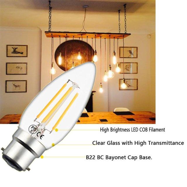 Luxvista B22 LED Filament