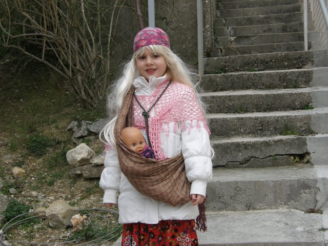 Gypsy girl and baby...