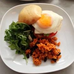 breakfast sandwich at delux