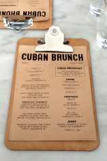 delux cuban brunch menu
