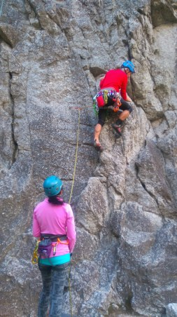 Shaheen Belaying, Peter leading