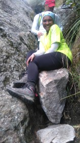 sitting on 'Bad rock'