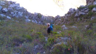 Steep hike up the Ravine