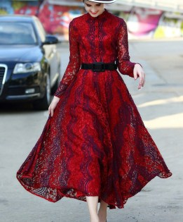 http://www.shein.com/Red-Round-Neck-Long-Sleeve-Drawstring-Lace-Dress-p-247804-cat-1887.html?aff_id=6249