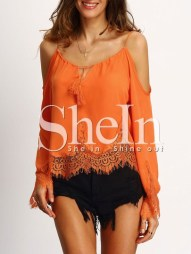 http://www.shein.com/Orange-Cold-Shoulder-Bell-Sleeve-Lace-Trim-Blouse-p-268834-cat-1733.html?aff_id=6249